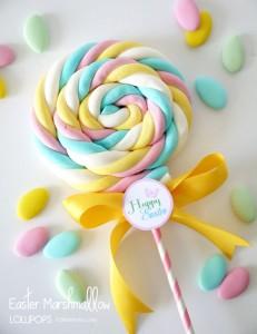 Marshmallow Lollypops